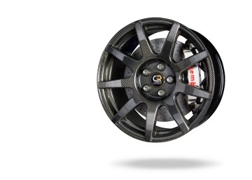 Ultra lightweight wheel assembly (wheel/brake system): Carbon Revolution full carbon fiber wheel ($12k) paired with a Brembo GT-R billet and nickelt plated brake caliper and carbon-ceramic 2-piece discs ($38k).